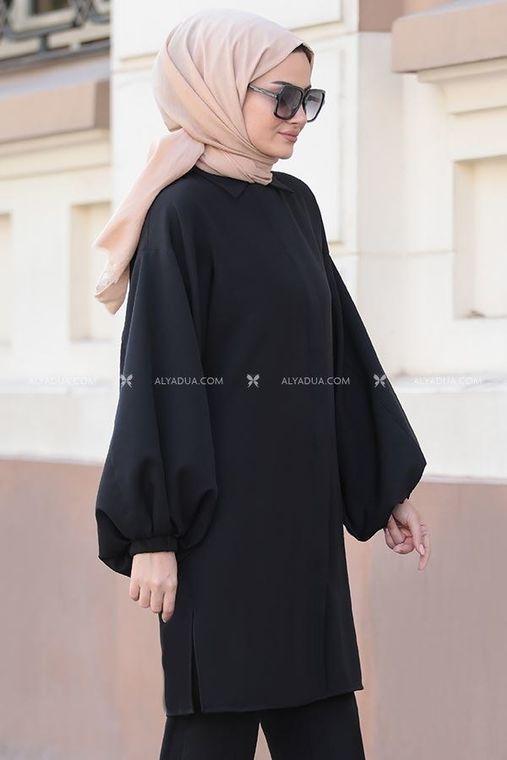 Siyah İrina İkili Takım - ST14159