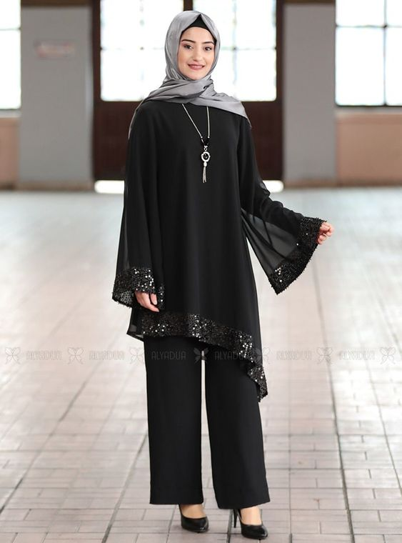 Rabeysa - Siyah Işıl Takım - RS14979