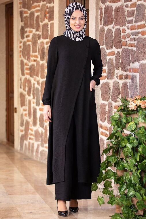 Fashion Showcase - Siyah İzel Takım - FS15491