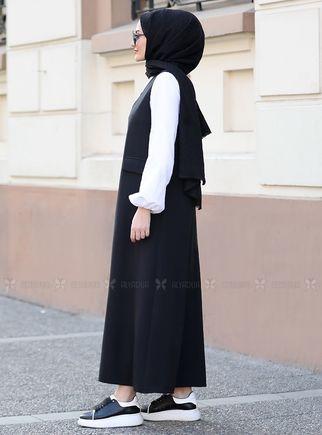 Siyah Jile Gömlek Takım - ST14564 - Thumbnail