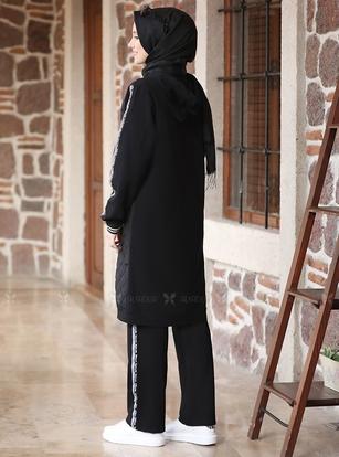 Siyah Kapitone Eşofman Takım - ADC14603 - Thumbnail