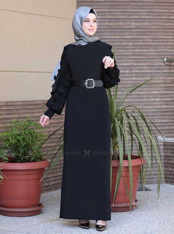 Emsale - Siyah Lal Elbise - ES15095
