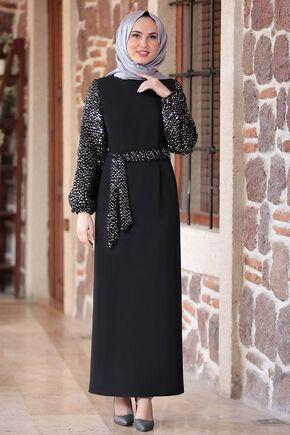 Fashion Showcase - Siyah Lal Elbise - FS16483