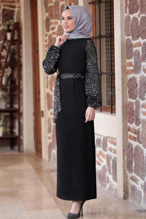 Siyah Lal Elbise - FS16483