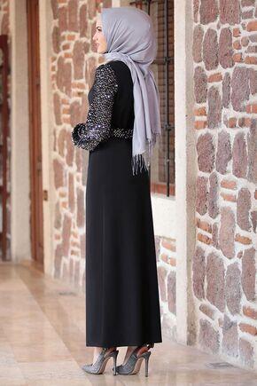 Siyah Lal Elbise - FS16483 - Thumbnail