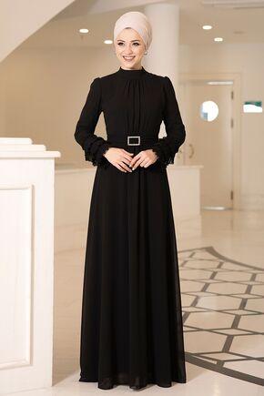 Dress Life - Siyah Lina Elbise - DL16116