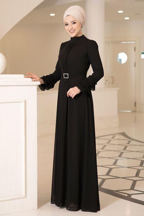Siyah Lina Elbise - DL16116