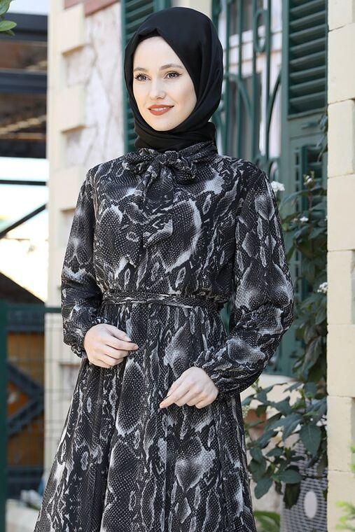 Siyah Lorin Elbise - ES15894