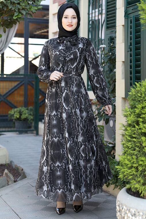 Emsale - Siyah Lorin Elbise - ES15894