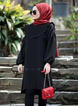 Seda Tiryaki - Siyah Vera Tunik - ST14898