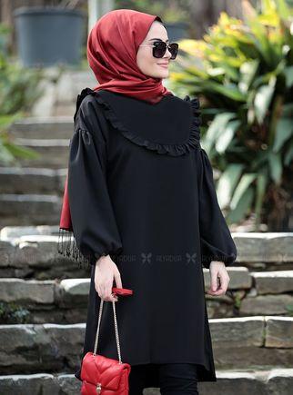 Siyah Vera Tunik - ST14898 - Thumbnail
