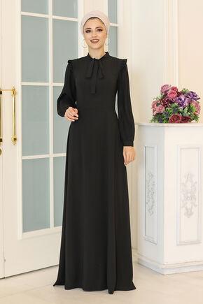 Dress Life - Siyah Merve Elbise - DL16495