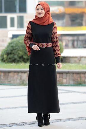 Rana Zenn - Siyah Minel Elbise - RZ14193
