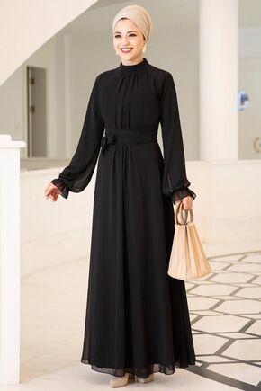 Dress Life - Siyah Miraç Elbise - DL15677