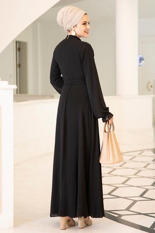 Siyah Miraç Elbise - DL15677