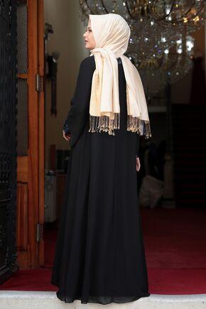 Siyah Narin Abiye - AMH16463 - Thumbnail