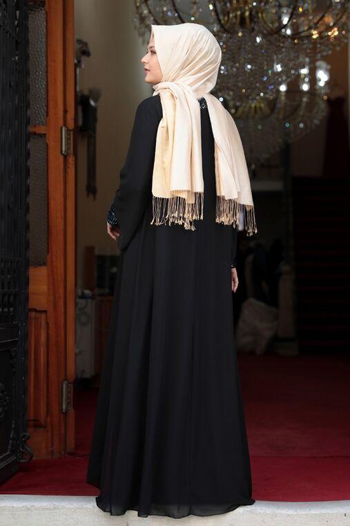 Siyah Narin Abiye - AMH16463