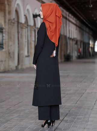 Siyah Narin İkili Takım - SFN14814 - Thumbnail