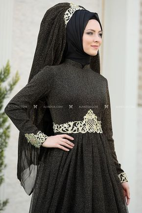 Siyah Nazende Abiye - SŞ13155 - Thumbnail