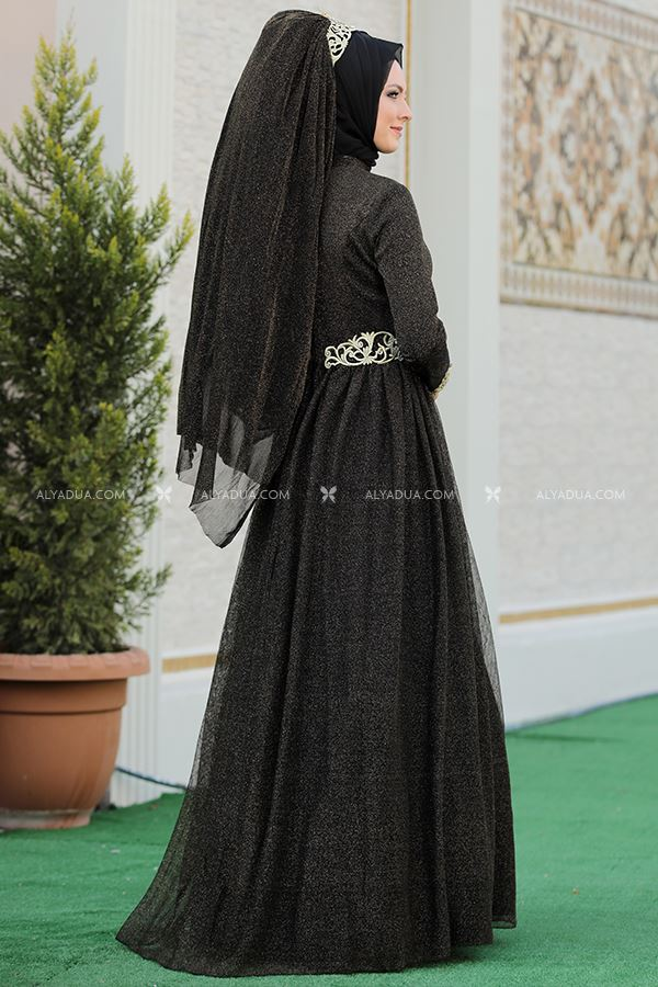 Siyah Nazende Abiye - SŞ13155