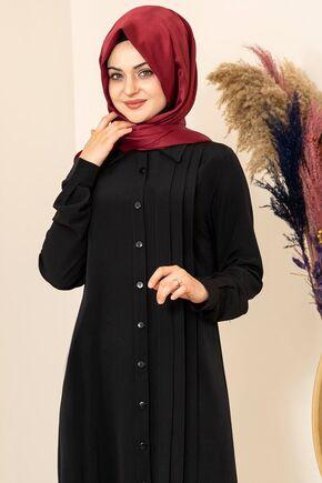Siyah Nervürlü Uzun Tunik - FS15856 - Thumbnail
