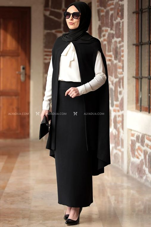 Rana Zenn - Siyah Nilüfer Triko İkili Takım - RZ12870