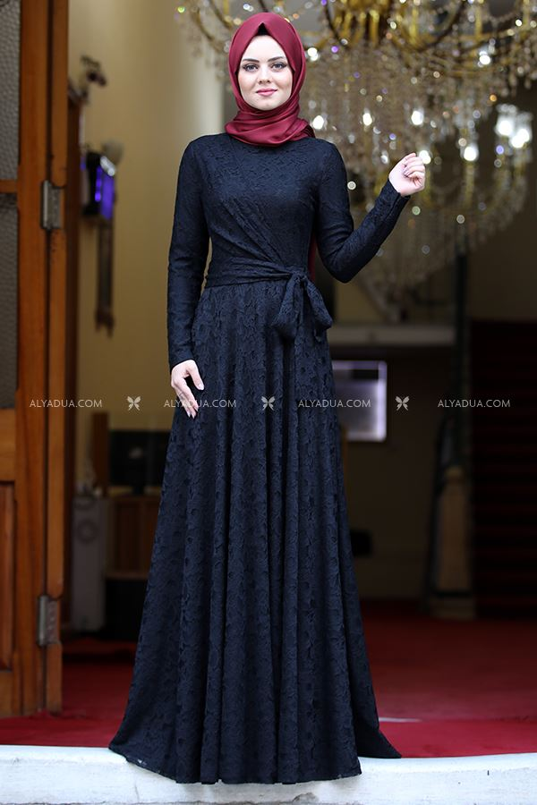 Ahunisa - Siyah Nisa Abiye - AHU13692