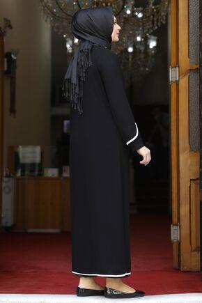 Siyah Osmanlı Ferace - AMH16236 - Thumbnail