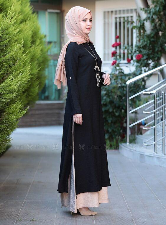 Siyah Otantik Elbise - ES15144