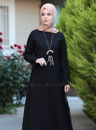 Siyah Otantik Elbise - ES15144 - Thumbnail