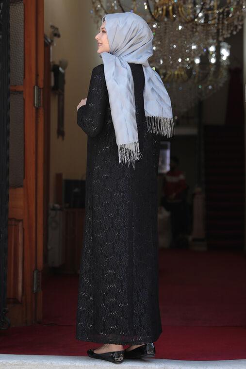 Siyah Papatya Abiye - AMH16129