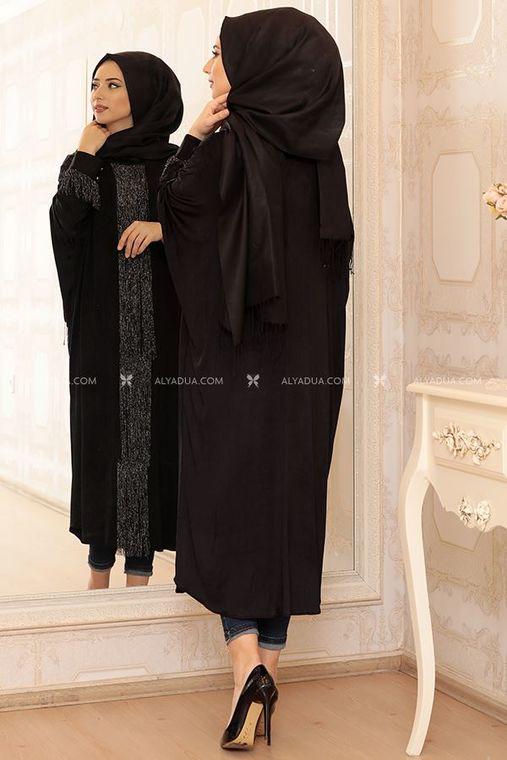 Siyah Püsküllü Elisa Tunık - LF13036