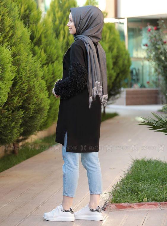 Siyah Püsküllü Tunik - ADC14605
