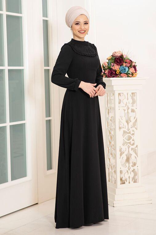 Siyah Selin Elbise - DL16166