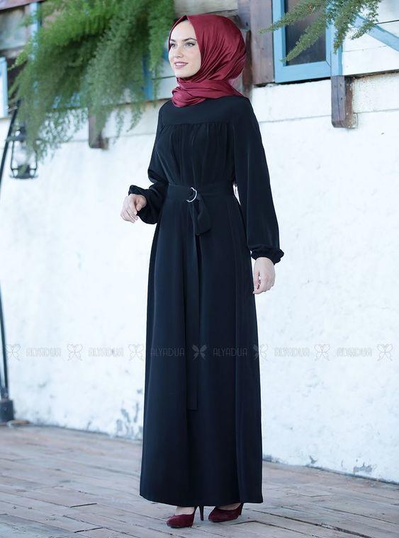 Siyah Şenay Elbise - ES14569