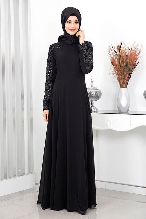 Rana Zenn - Siyah Sinla Abiye - RZ16158