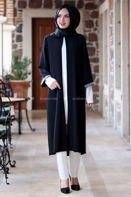 Siyah Taş Detay Tunik - AD14027