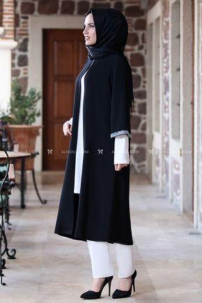Siyah Taş Detay Tunik - AD14027 - Thumbnail