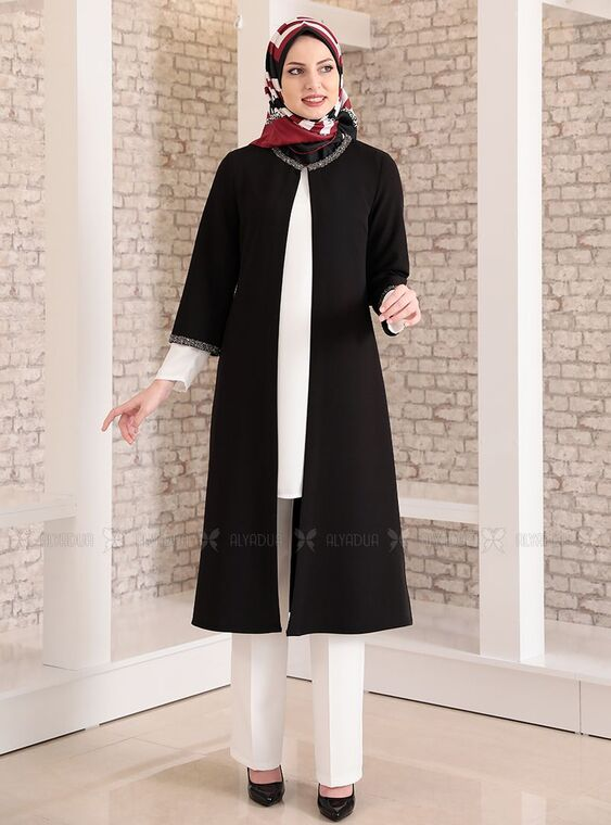 Fashion Showcase - Siyah Taş Detay Üçlü Takım - FS15033