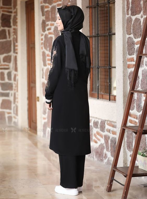 Siyah Taşlı Eşofman Takım - ADC14631