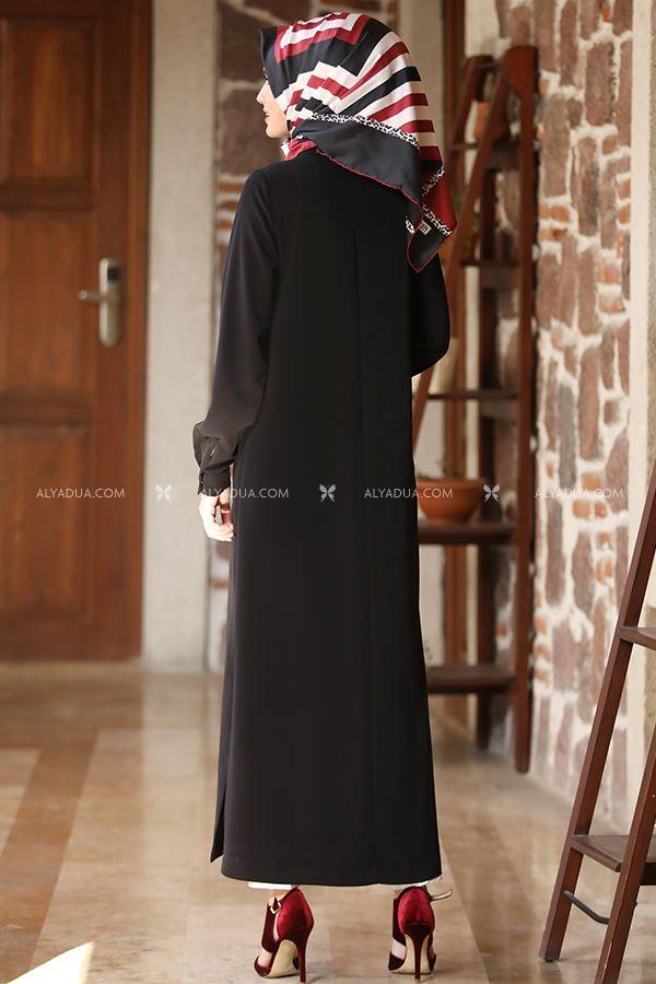 - Siyah Uzun Tunik Pantolon Takım - AD13204 (1)