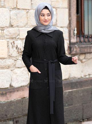 Siyah Yaren Hırka - RS14494 - Thumbnail