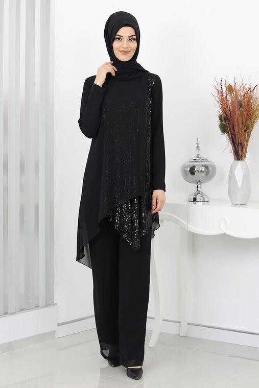 Surikka - Siyah Zehra Abiye Takım - SUR15991