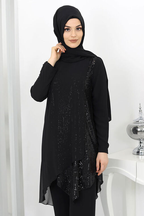 Siyah Zehra Abiye Takım - SUR15991