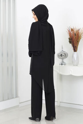 Siyah Zehra Abiye Takım - SUR15991 - Thumbnail