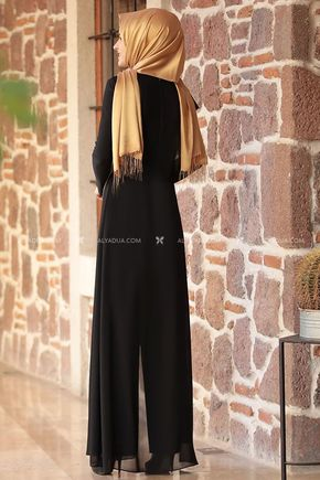 Siyah Zincirli Tulum - RZ11598 - Thumbnail