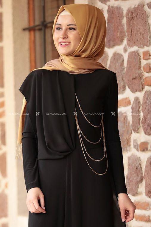 Siyah Zincirli Tulum - RZ11598