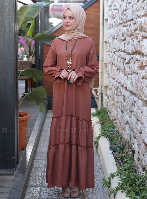 Emsale - Taba Kaktüs Elbise - ES15317