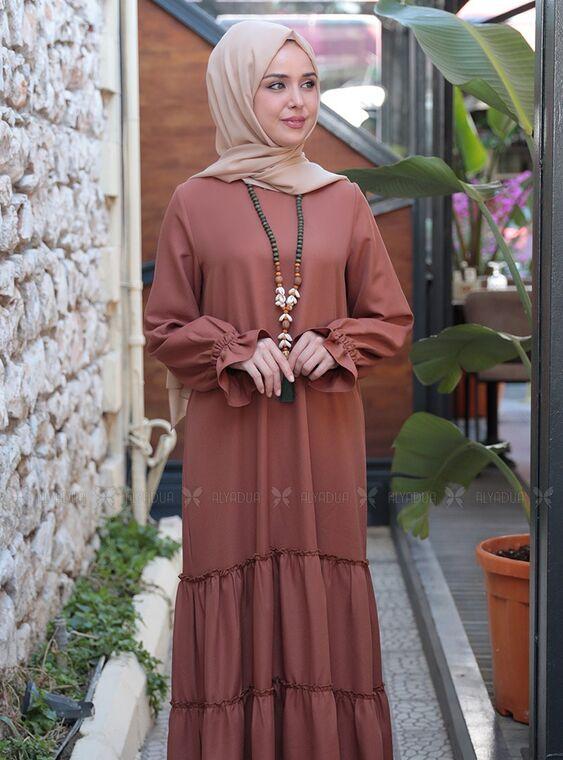 Taba Kaktüs Elbise - ES15317