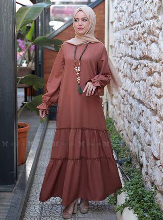 Taba Kaktüs Elbise - ES15317 - Thumbnail